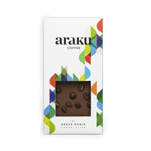 Tablette grains de café chocolat au lait - Araku