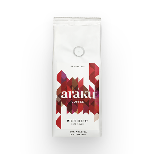 Sachet - grains, moulu - café Micro Climat - Araku Coffee