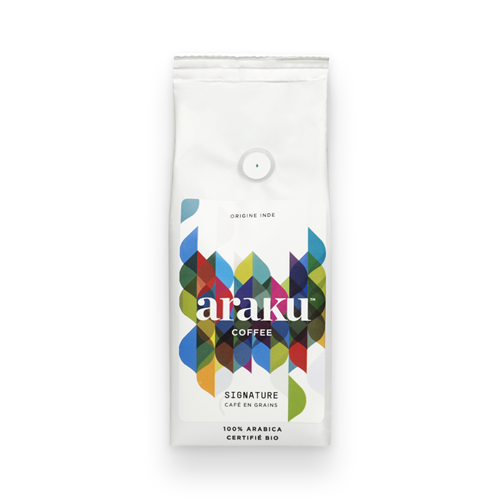 Sachet - grains, moulu - café Signature - Araku Coffee