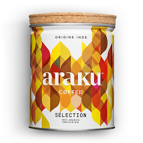 Boite - grains, moulu - café Selection - Araku Coffee