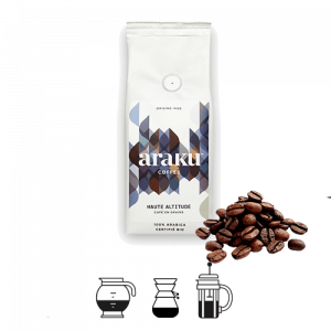 sachet de haute altitude en version grains de la marque araku coffee
