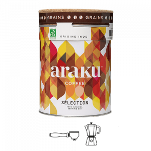 boite de cafe araku coffee en format grains 200g